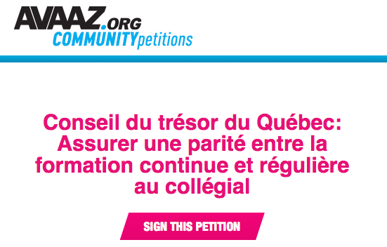 avaaz petition